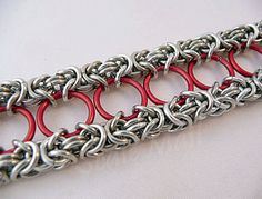 Double byzantine chainmail bracelet by ScaleMail on Etsy