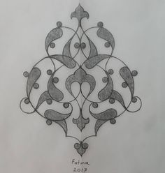 Rumi Eskiz – Fatma Özçay – T-Shirts & Sweaters Islamic Art Pattern, Arabic Pattern, Pattern Art, Art Drawings, Pencil Drawings, Arabesque Pattern, Persian Motifs, Turkish Art, Islamic Art Calligraphy