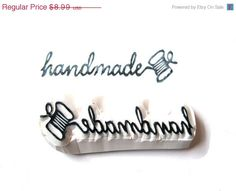 Hand Carved Rubber Stamp, Cursive Word Handmade Written in Thread Rubber Stamp. $8,90, via Etsy.