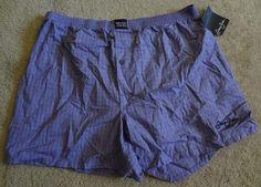 Sean John Plaids & Checks  Purple 2XL Boxers NWT Made/El Salvador 100% Cotton #SeanJohn #Boxer