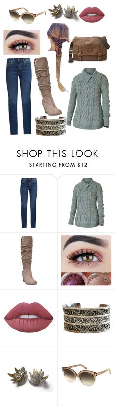 """""""Fall picnic date"""" by friday778899 on Polyvore featuring M.i.h Jeans, Royal Robbins, Dr. Scholl's, Lime Crime, Lois Hill, Tom Ford and FOSSIL"""