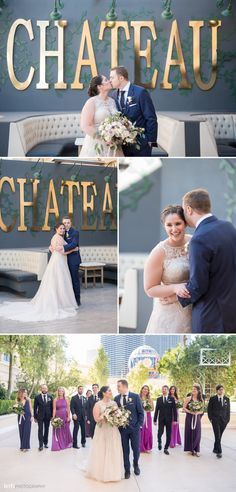 Elegant Rooftop Wedding at Chateau Nightclub at Paris Las Vegas | KMH Photography, Las Vegas Wedding Photographer