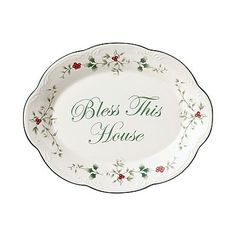 Pfaltzgraff Winterberry ''Bless This House'' Serving Plate