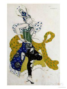 Sketch For the Ballet La Peri, by Paul Dukas reproduction procédé giclée