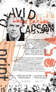 A biography poster of graphic designer David Carson