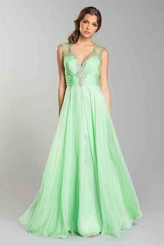Sleeveless Rhinestones Overlay Floor Length Prom Dress Plus Sizes Gown Elegant #ThedressoutleT #Formal