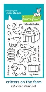 Lawn Fawn - critters on the farm stamp (matching dies)