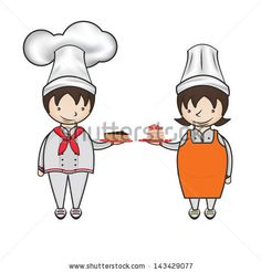 Cartoon Kid Patissier red, chef, cute, lady, girl, cake, cook, home, food, sweet, apron, baker, bread, image, happy, vector, womens, baking, people, female, family, mother, kitchen, dessert, gourmet, cooking, cartoon, original, cheerful, delicious, happiness, housewife, strawberry, patisserie, illustration, making cake, baking cake