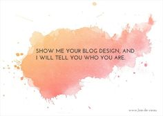 What does your blog design say about you #blog #design #brand