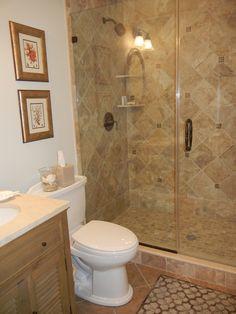 Crema Travertine Tub And Shower Pacific Coast ReBath East - Bathroom remodeling oxnard ca