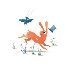 Shahar Kober Illustration - shahar, kober, shahar kober, commercial, picture book, fiction, educational, digital, animals, YA, young reader, rabbit, bird, colourful, bright, flowers, hat, cute, sweet