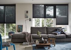 Luxaflex® Plisse shades are available in a large number of colours, fabrics and transparencies. Find out more about Luxaflex® Plisse shades online. Black Blinds, Tadelakt, Sofa, Couch, Window Styles, Window Coverings, Interior Inspiration, Sweet Home, Home And Garden