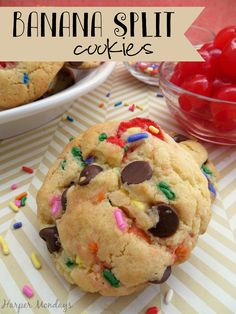 Banana Split Cookies Pinterest