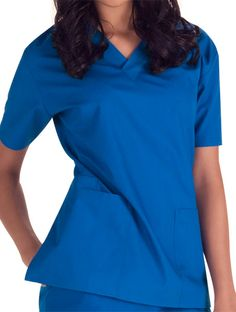 Maevn Fit Two-Pocket V-Neck Top #scrubs #with pockets