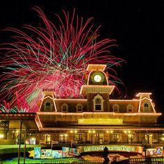 Fireworks over Main Street USA Magic Kingdom Walt Disney World
