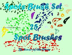 Paint Spots - Download  Photoshop brush http://www.123freebrushes.com/paint-spots/ , Published in #GrungeSplatter. More Free Grunge & Splatter Brushes, http://www.123freebrushes.com/free-brushes/grunge-splatter/ | #123freebrushes