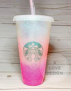 Your place to buy and sell all things handmade Starbucks Tumbler, Starbucks Glitter Cup, Starbucks Cup Art, Starbucks Green, Personalized Starbucks Cup, Custom Starbucks Cup, Glitter Cups, Glitter Tumblers, Cute Water Bottles