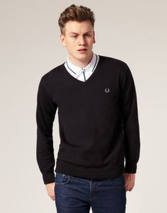Fred Perry Cotton V-Neck for Stephane