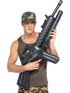 Army Fancy Dress Inflatable Machine Gun by Smiffys for sale online Army Fancy Dress, Cheap Fancy Dress, Fancy Dress Props, Army Costume, Military Costumes, Costume Dress, Fancy Dress Accessories, Costume Accessories, Trailer Trash Party