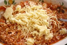 Tricia's Easy Fancy Spaghetti Casserole Inexpensive Healthy Meals, Cheap Meals, Easy Meals, Best Pasta Recipes, Vegetarian Recipes, Healthy Recipes, Pasta Dishes, Food Dishes, Main Dishes