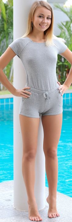 swimsuit cameltoe Young