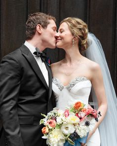 It takes long locks to create a full bun like Blake did on her wedding day. Loose tendrils pulled out with intention make Blake's hair look natural and relaxed.