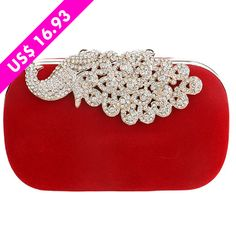 Peacock Rhinestones Evening Bags Purse Clutch for Wedding. Luggage Bags, Evening Bags, Peacock, Purses And Bags, Rhinestones, Jewelry, Wedding, Fashion, Board