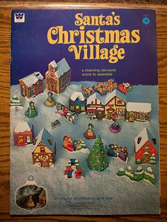 free pdf downloads of this vintage Christmas Village - I am soo excited.  I had this when I was a little girl.  I am definitely doing this for fun.  :)