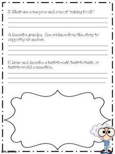 *FREEBIE* Cloudy with a Chance of Meatballs - Great for guided reading groups!!!!