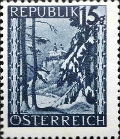 Znaczek: Burg Forchtenstein (Burgenland) (Austria) (Landscapes) Mi:AT 748 Countries Around The World, Around The Worlds, Austria, Stamp Collecting, Postage Stamps, Printmaking, Monochrome, Poster, Europe