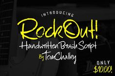 RockOut! Script + Bonus Font by Tom Chalky on @creativemarket