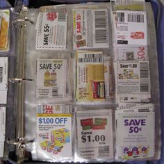 How to keep a coupon binder organized