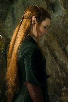 The Hobbit - Tauriel - she wasn't in the book but she is a great character in the movie. Description from pinterest.com. I searched for this on bing.com/images