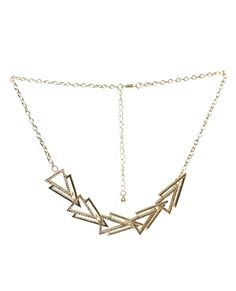 Sideways Triangle Statment Necklace from Wet Seal