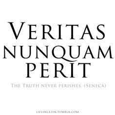 Veritas Nunquam Perit.