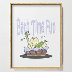 bath time fun Serving Tray by edream Bath Time, Cute Gifts, Tray, Fun, Beautiful Gifts, Trays, Board, Hilarious