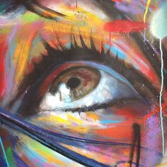 Detail from New work in progress for his solo show @robertfontainegallery in May. #spraypaint #spraypaintoncanvas #nofilter #artofdavidwalker #robertfontainegallery #miami #davidwalker #eye