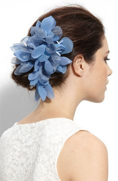 """something blue"" - Cara Accessories 'Tropical Flower' Hair Clip 