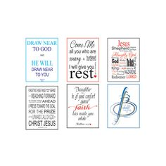 Printable Promise cards, 6 verses per page, Page 2, Digital File, Bible Verse Art, Christian, Calligraphy, Instant download, Typography by LoveLineSigns on Etsy
