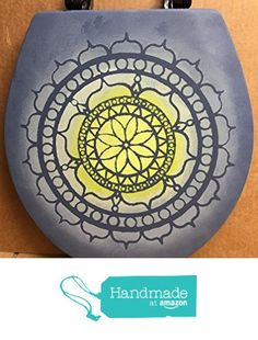 Exclusively Painted Mandala Black Round Solid Wood Toilet Seat from Primitive Country Loft House https://www.amazon.com/dp/B06W2P9HVH/ref=hnd_sw_r_pi_awdo_BRVQyb4CSD9NV #handmadeatamazon