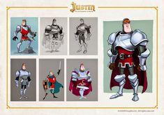 """Más trabajo de desarrollo para """"Justin y la Espada del Valor"""". Estos diseños pertenecen a una escena eliminada en el montaje final de la p..."""