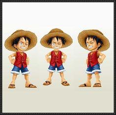 One Piece - Chibi Monkey D. Luffy Free Paper Model Download
