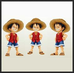 One Piece - Chibi Monkey D. Luffy Free Paper Model Download