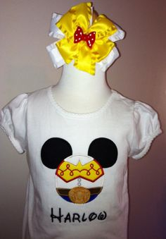 Disney shirt Mouse Jessie ears by Emmasbowsandmore on Etsy, $22.00