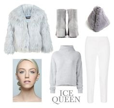 """""""Ice Queen"""" by barngirl ❤ liked on Polyvore featuring Miss Selfridge, Emilio Pucci, Gianvito Rossi and Le Kasha"""