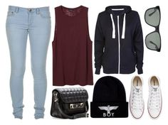 """Untitled #239"" by dorisjurisic ❤ liked on Polyvore featuring Marc by Marc Jacobs, Monki, BOY London, Converse, Proenza Schouler and Ray-Ban"