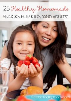 Healthy Homemade Snack Ideas for Kids (and Adults) 25 Healthy Homemade Snack Ideas for Kids (and Adults) - You won't feel guilty indulging in these snacks like a bowl of homemade gummy bears, frozen yogurt raspberries and more. Healthy Homemade Snacks, Healthy Snacks For Kids, Healthy Treats, Lunch Snacks, Yummy Snacks, Yummy Food, Baby Food Recipes, Snack Recipes, Healthy Recipes