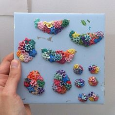 Finally finished the second batch of #miniature #corals (well almost) out of #polymerclay ... now... bed... sleep.... Zzzzz