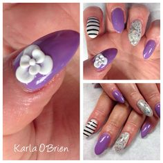 Purple nail art!