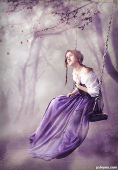purple swinging